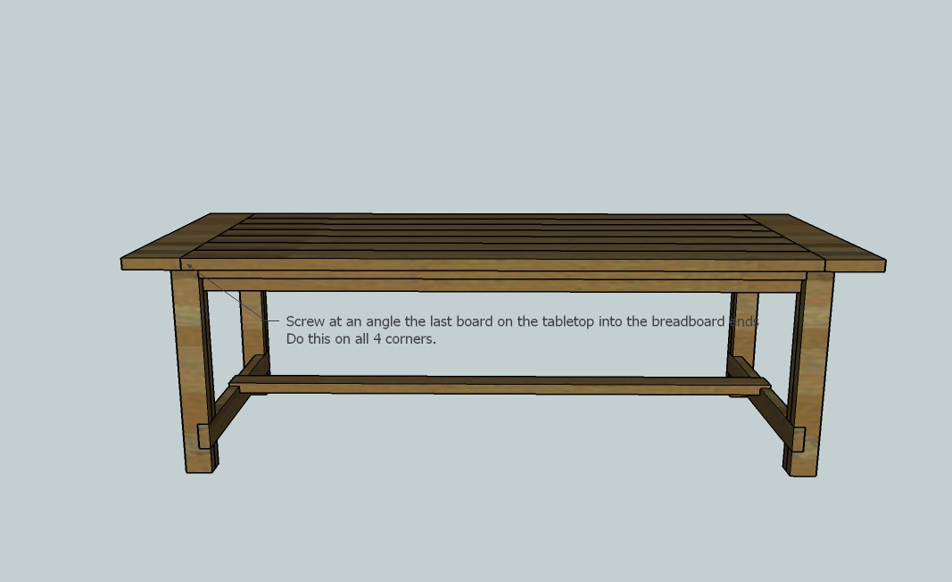 David: Easy Fine Woodworking Trestle Table Plans Wood