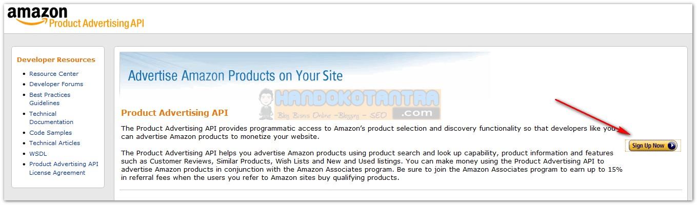 Daftar API Access Key Amazon