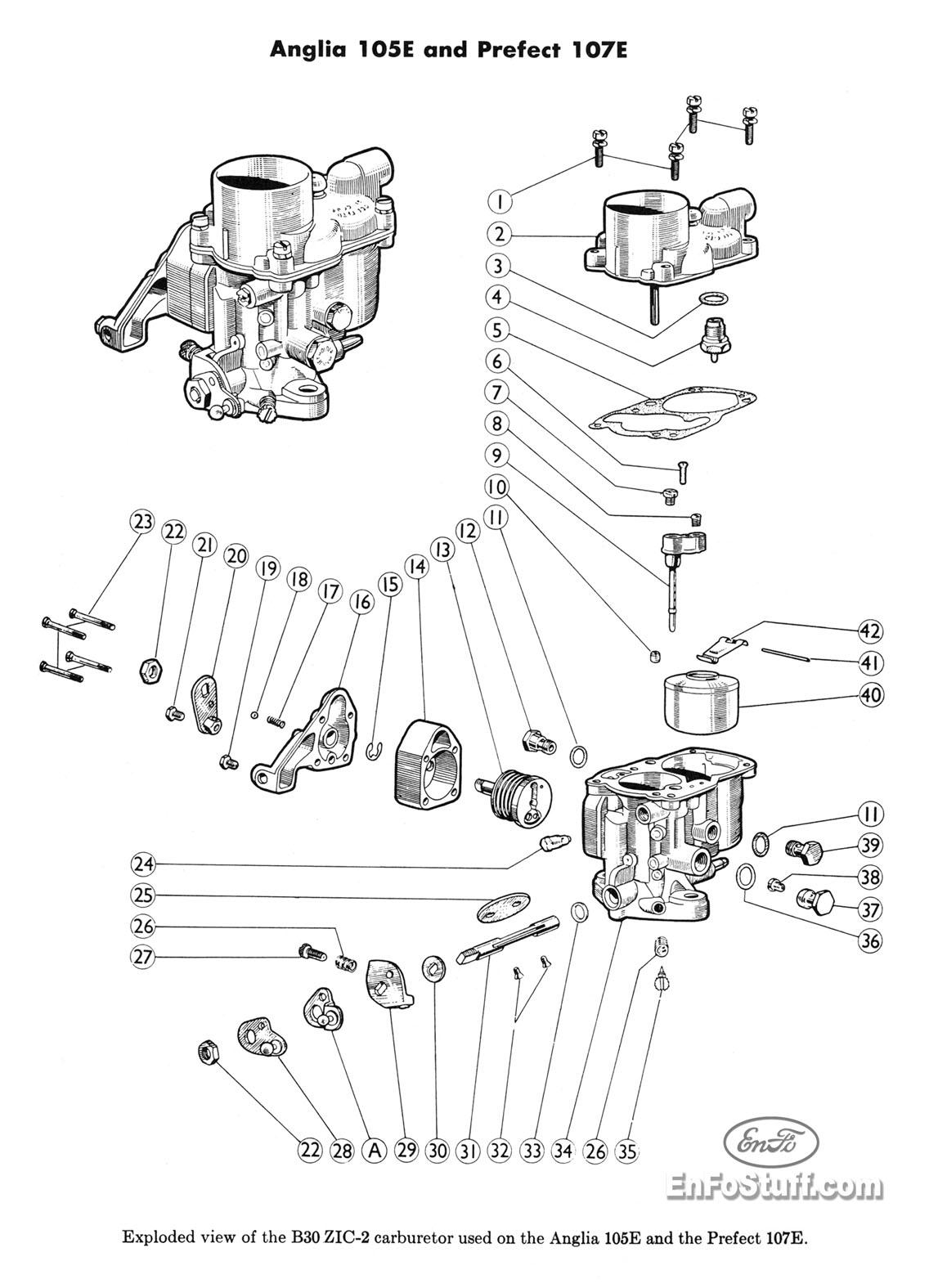 Ajuste De Motor Despiece Carburador Solex B30 Zic 2