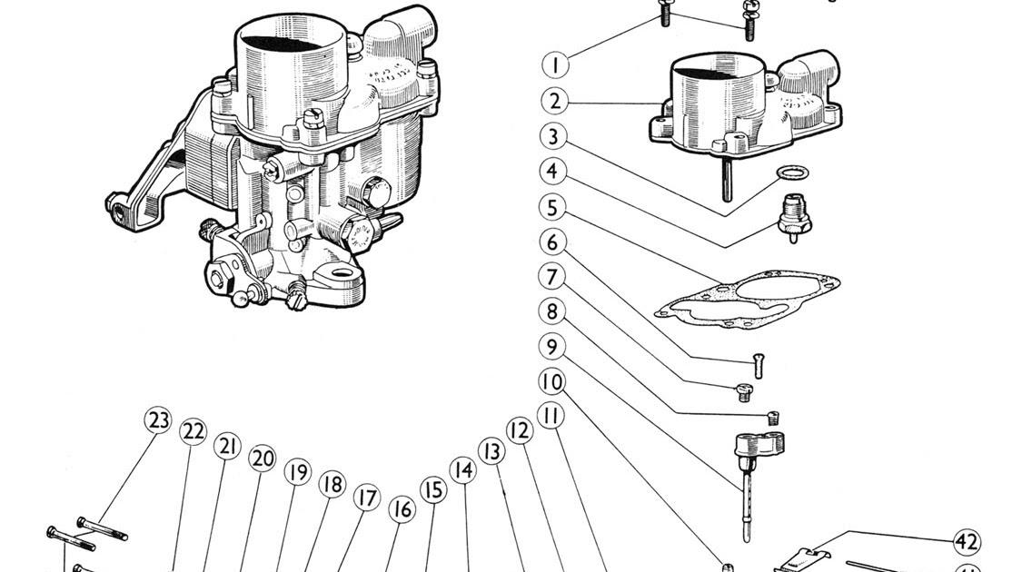 Ajuste de Motor: Despiece Carburador Solex B30 ZIC-2