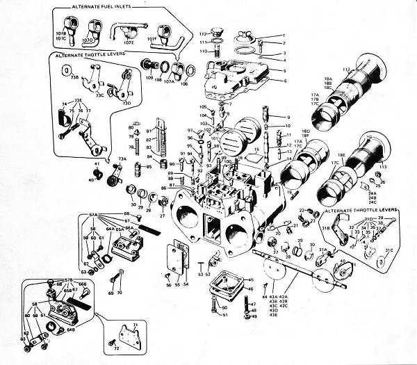 Ajuste de Motor: Despiece Carburador Weber 45 DCOE