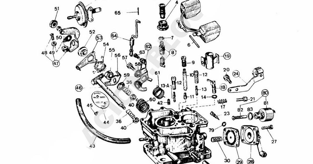 Ajuste de Motor: Despiece Carburador Weber 34 DMTR