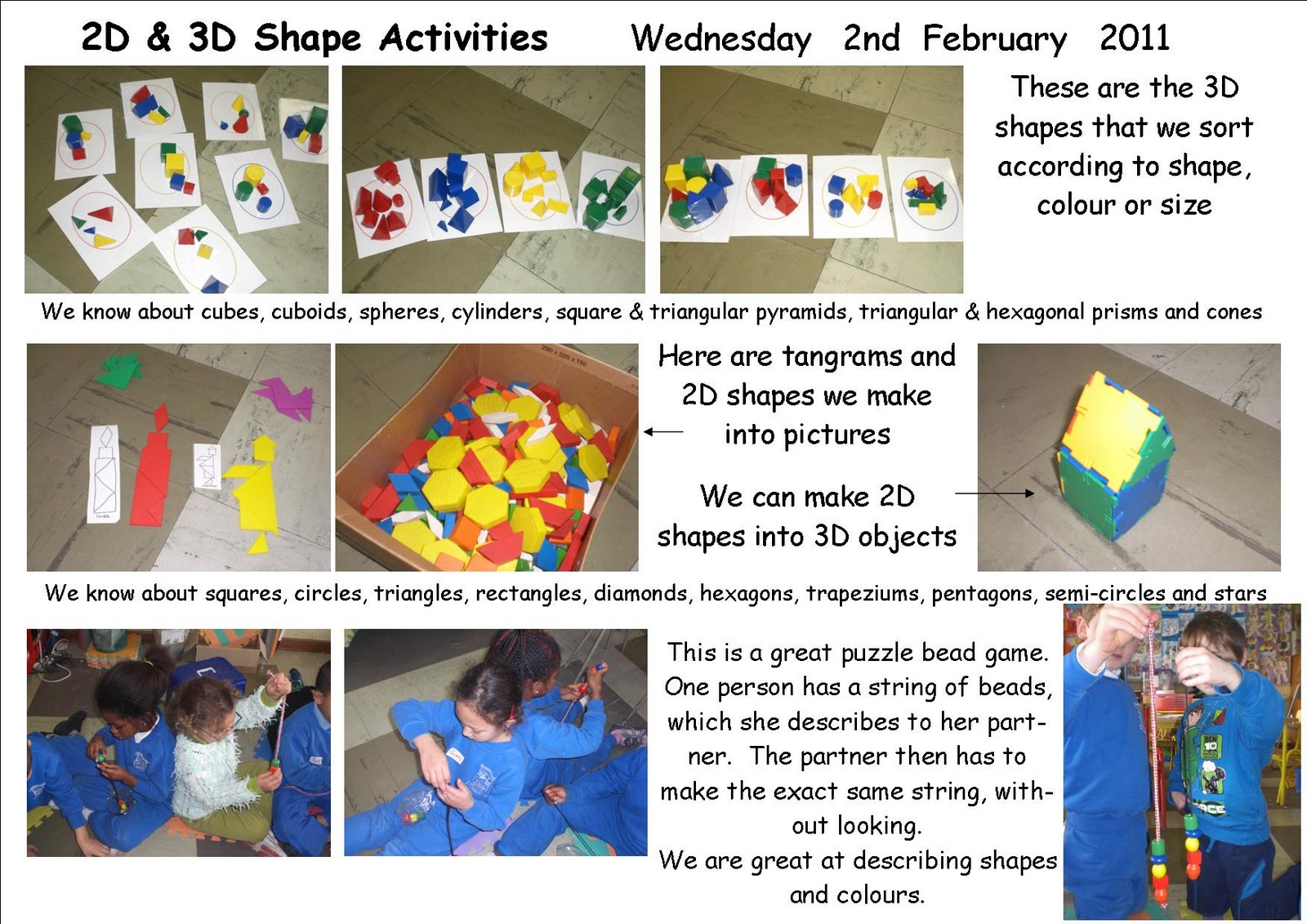 Maths Page 2d And 3d Shape Activities In Senior Infants