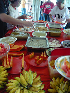 Foods served during the medical mission