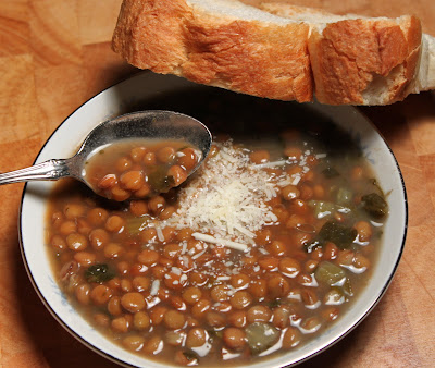 Italian Lentil and Escarole Soup