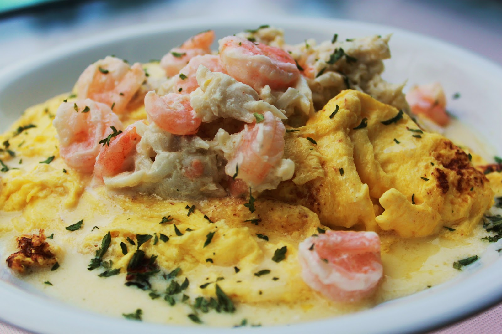 Crab And Shrimp Omelette And Egg What S Cookin Italian