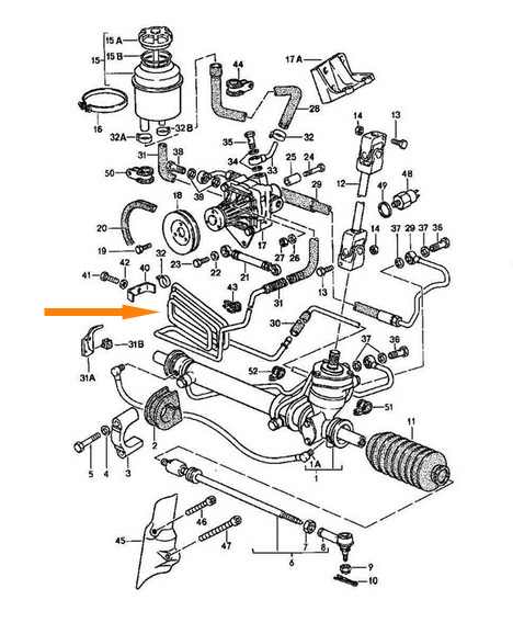 Power Steering Line Diagram