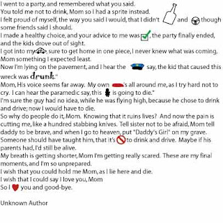 Went To A Party Mom Poem 80