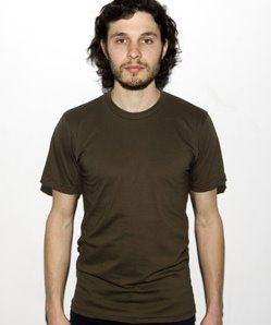 green army american apparel tshirt model