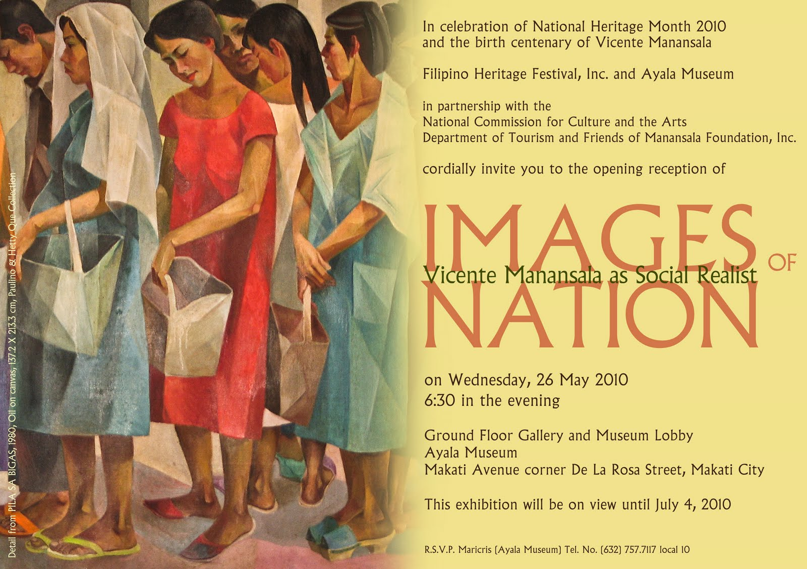 Ayala museum presents images of nation vicente manansala as social realist may 26 july 4 2010