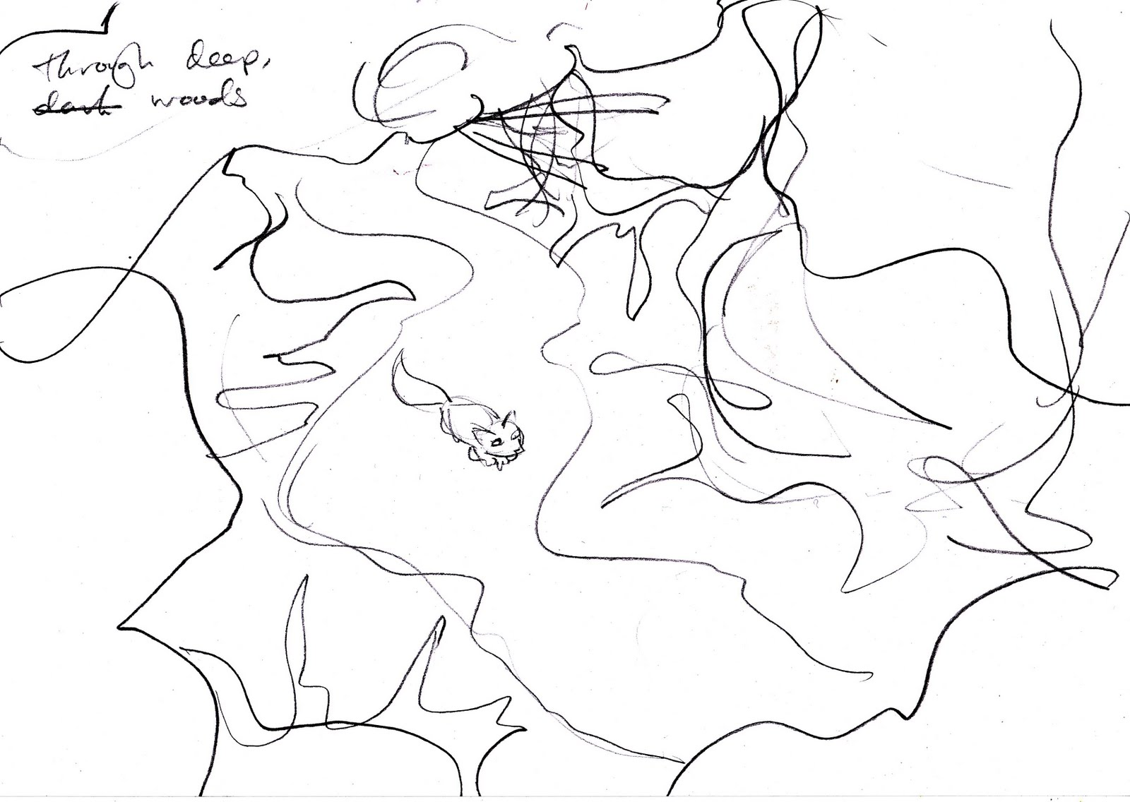 Rachael Smith Illustration: Through deep woods...