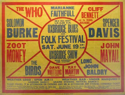 Who,Solomon_Burke,Zoot_Money,Cliff_Bennett,The_Rebel_Rousers,John_Mayall_s_Bluesbreakers,Spencer_Davis_Group,Marianne_Faithful,Long_John_Baldry,The_Birds,Dave_Witting,MaUxbridge,1965,poster