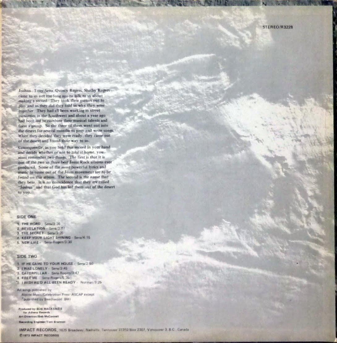 Psychedelic-Rock'n'roll: Joshua - God Spoke   And Said 'Lead