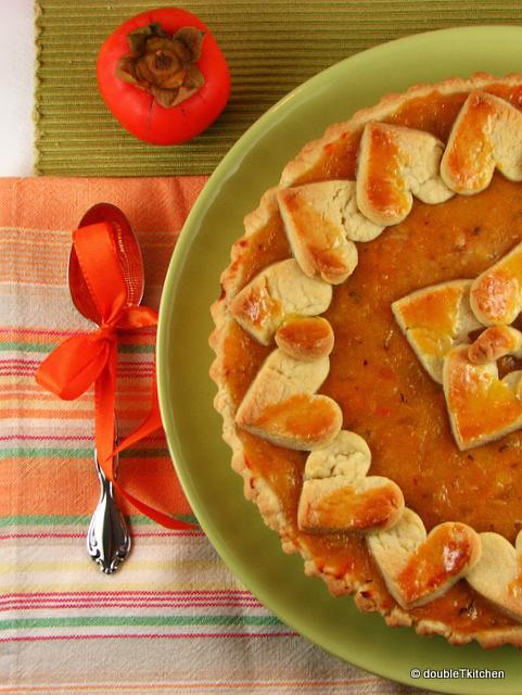 persimmon crostata