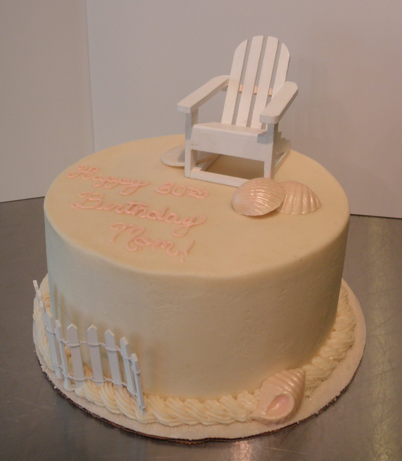 Sweet T39s Cake Design Adirondack Beach Chair And Seashell