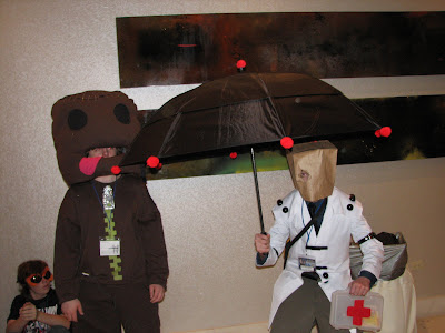 sackboy from little big planet and faust from guilty gears & Little Big Planet Halloween Costumes - The Halloween