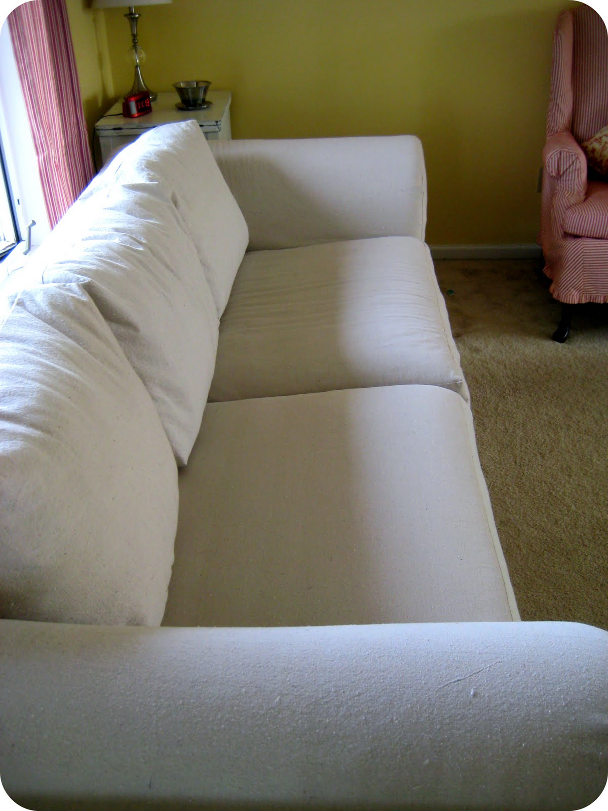 Happy At Home Sofa Slipcover Reveal