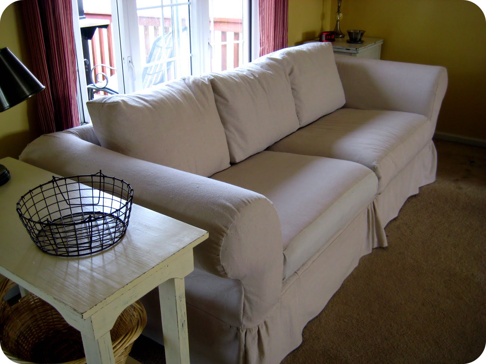 Happy At Home Tips On Sewing A Slipcover