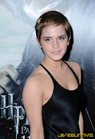 Emma Watson silk black dress