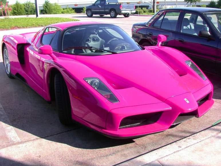 Automotive Car: Fotos de Ferrari cor de Rosa