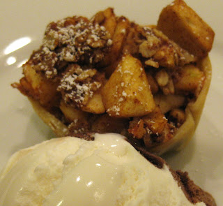 baked apple dessert, mini apple crisp