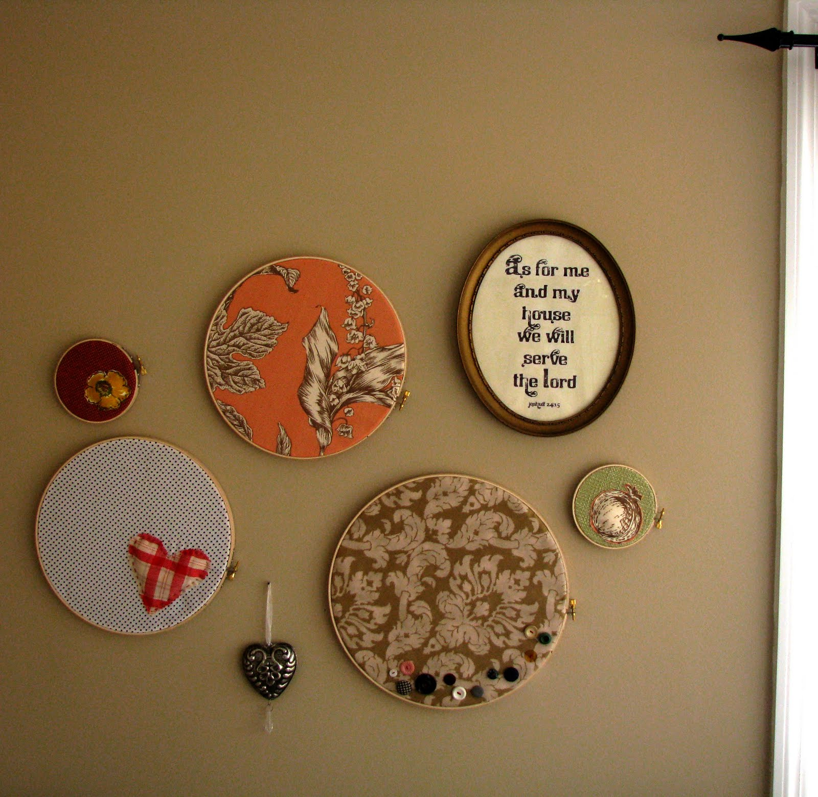 : fabric embroidery hoop wall art - www.pureclipart.com
