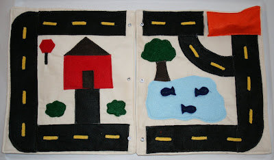 make a quiet book road page idea