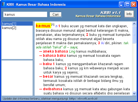 Bahasa gratis ebook indonesia kamus besar