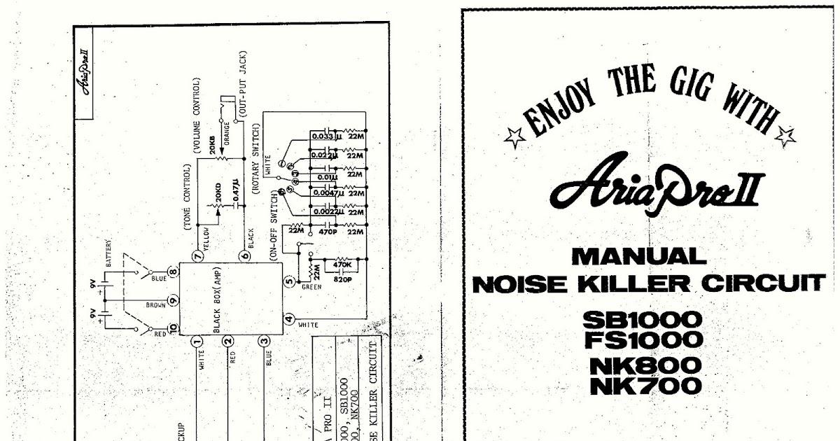 aria pro ii bass wiring diagram