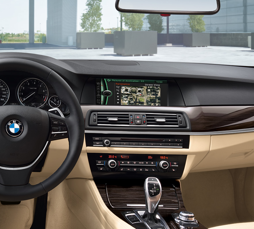 Bmw is introducing these services in every new car equipped with a professional navigation system as of september 2010
