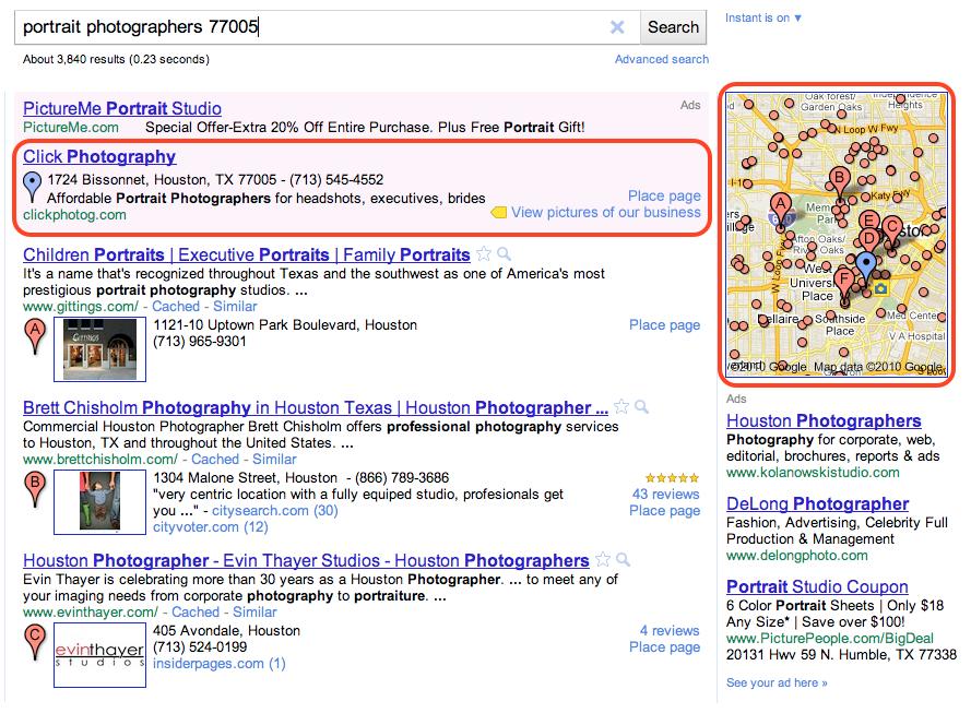 Google boost screenshot