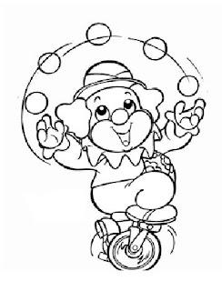 Banco De Atividades Desenhos Para Colorir Circo