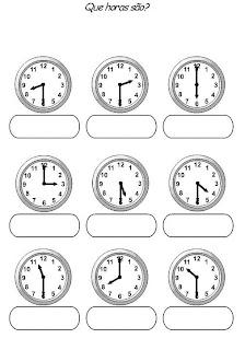 Banco De Atividades Matematica Relogios Para Completar As Horas