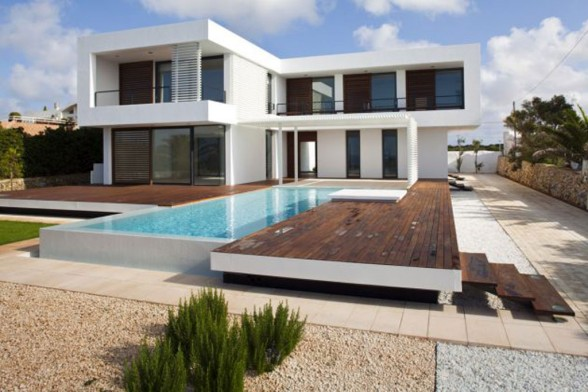 Home Arsitektur Summer House Plans With Swimming Pool Design In Spain