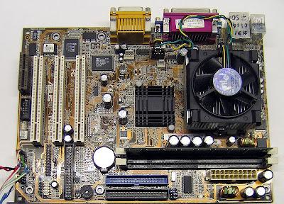 Материнская плата Asus TUSI-M с процессором Celeron 1,2 GHz
