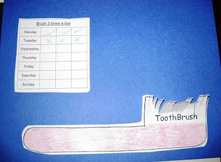 Preschool Storytime Crafts: Tooth Brush Chart
