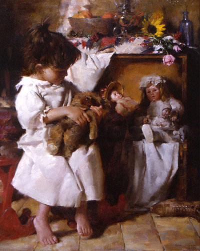 Tale Teller Children In Morgan Weistling S Paintings