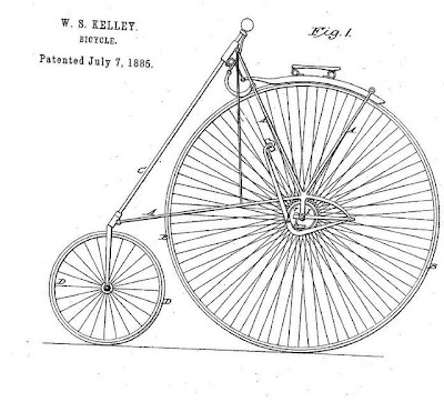 patent drawing of bicycle