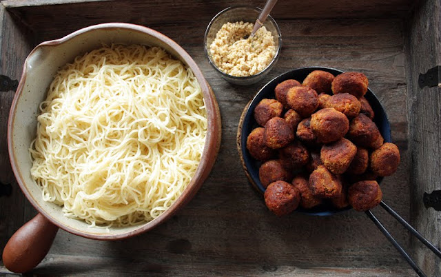 Oppskrift Vegan Vegetar Linselus Linser Pasta Vegetariske kjøttboller