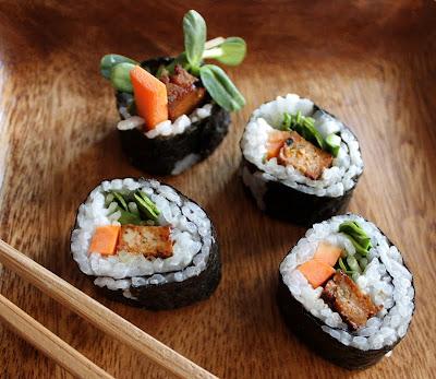 Oppskrift Sushi Vegansk Vegan Vegetarsushi Tofu Hvordan Lage Hjemmelaget