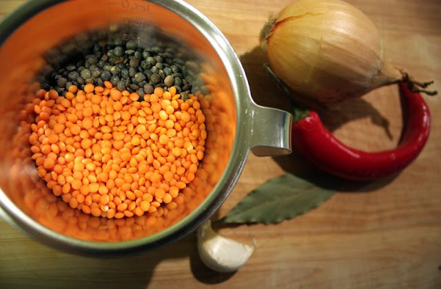 Oppskrift Hjemmelaget Rød Linsesuppe Tomatbasert Vegetar Vegan Røde Linser