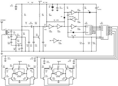 Schematic circuit diagram (wii/wiring diagram) for remote