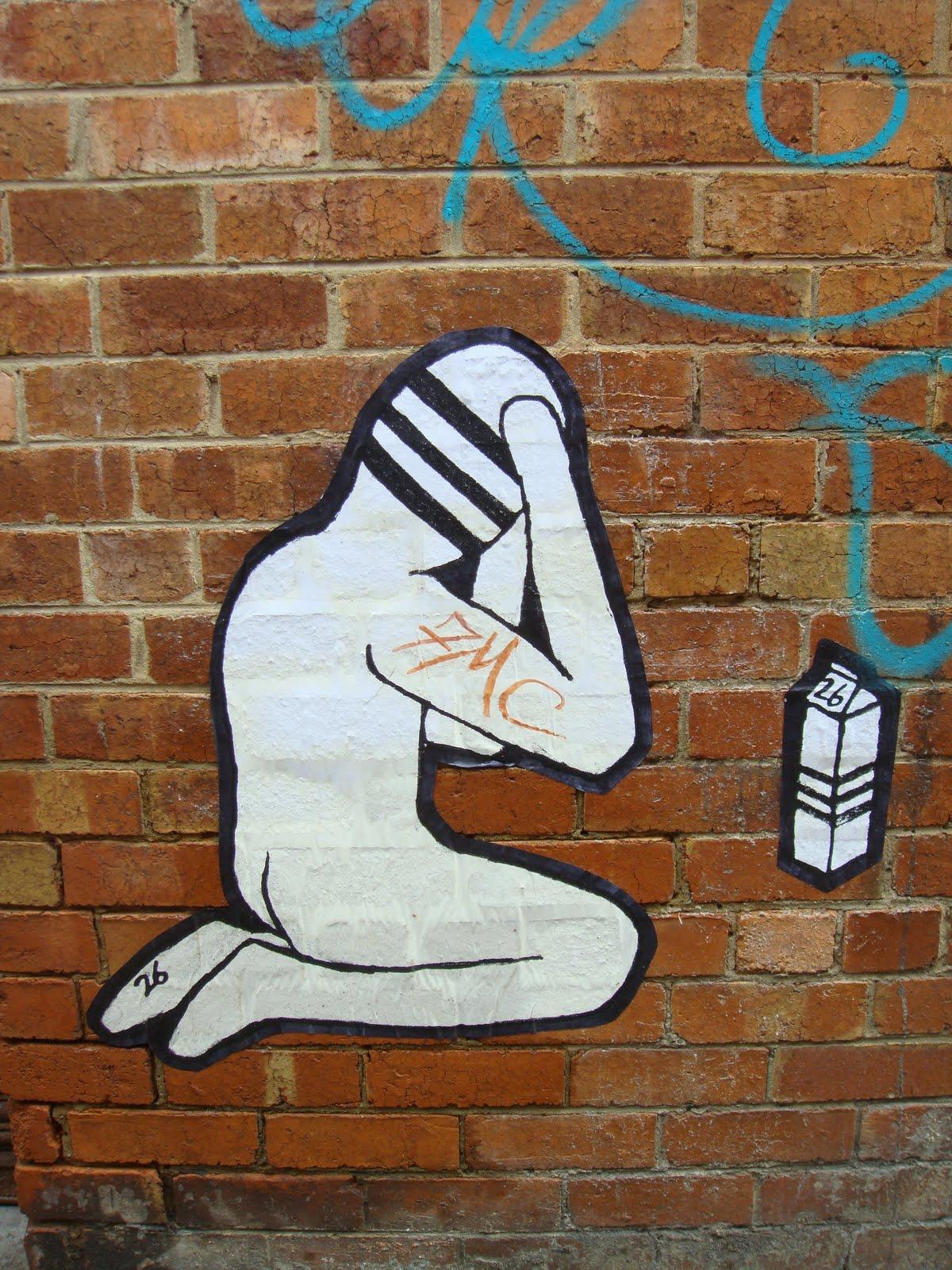 land of sunshine: paste ups too Melbourne 2010