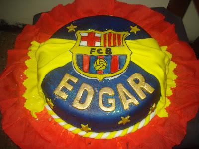 May Y Sus Creaciones Torta De Futbol Del Barcelona Mini