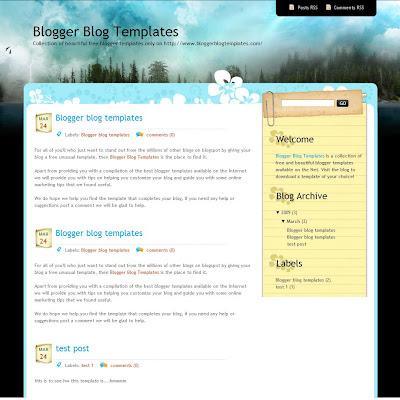Dark Forest Blogger Theme