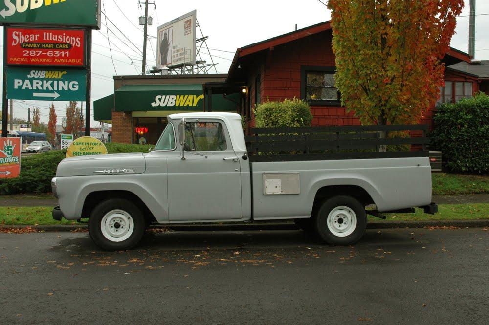 old parked cars 1960 ford f100. Black Bedroom Furniture Sets. Home Design Ideas