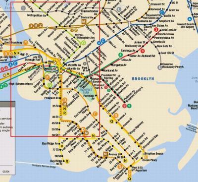 Subway Map To Coney Island.Design Language Maps