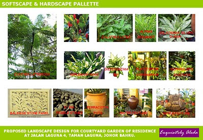 Planting pallette for tropical / balinese landscape design