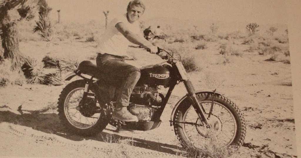 the selvedge yard steve mcqueen doin 39 it in the dirt and. Black Bedroom Furniture Sets. Home Design Ideas