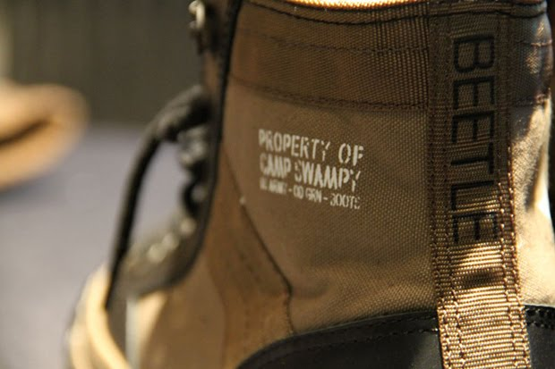5bd0c4ea1df1 The sneaker s aesthetic keeps in line with the project s theme of military  aesthetics with a well-worn and aged finish. The shoe is based on the All  Star ...